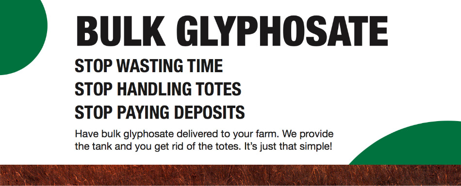 Read more about bulk glyphosate delivered to your farm.